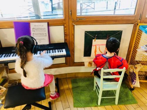 piano et peinture